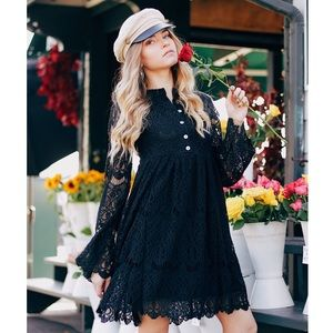 Somedays Lovin Revolve Runaway Lace Dress Black